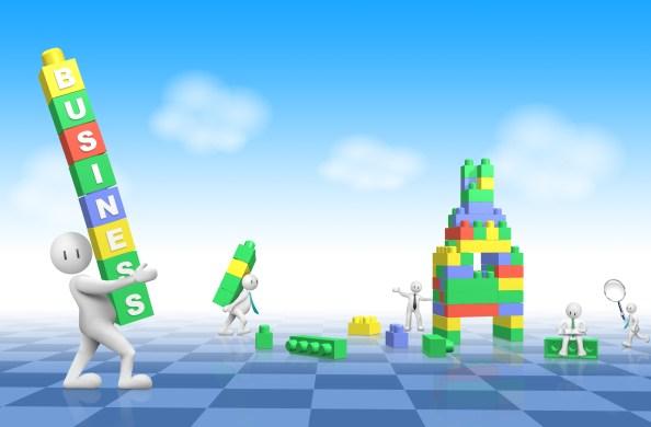 business background lego