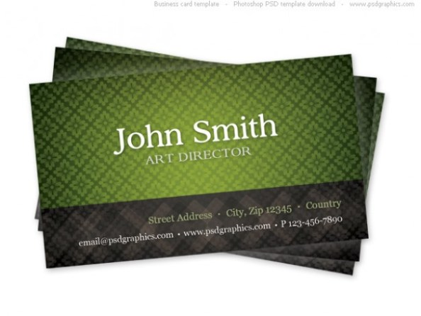 green-business-card-template-with-seamless-pattern