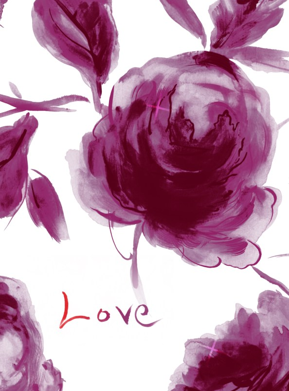 watercolor roses background freebie