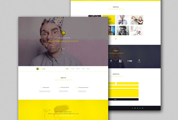 YellowMoon – Free PSD Landing Page Template