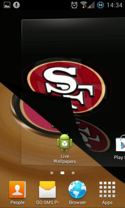 Free San Francisco 49ers NFL Live Wallpaper APK Download For Android   GetJar