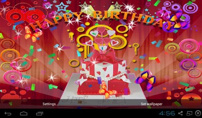 Free 3D Happy Birthday Live Wallpaper APK Download For Android | GetJar
