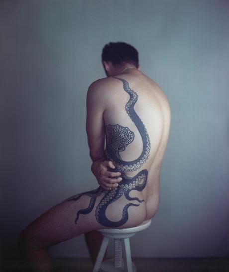 Richard Learoyd's <em>Man with Octopus Tattoo II</em> (2011) by Richard Learoyd
