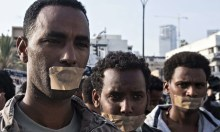 MDG : Eritrean and Sudanese asylum seekers in Tel Aviv protest against immigration crackdown