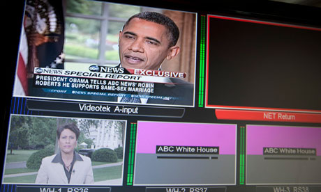 Barack Obama discussing gay marriage on ABC News