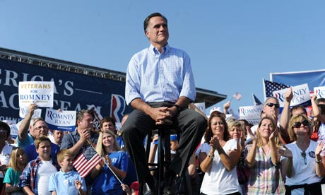 Mitt Romney at a rally in Ohio