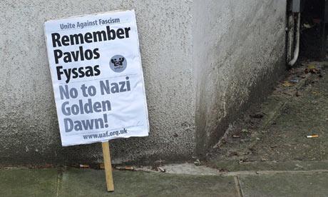 Anti-fascist protest at Greek embassy after murder of Hip-Hop artist