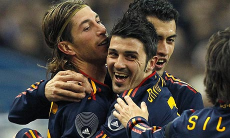 Sergio Ramos and David Villa aim to lead Spain into the final.
