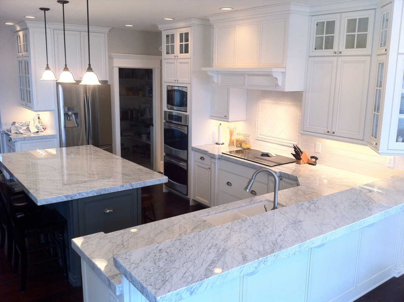White Cabinets With Marble Countertops89
