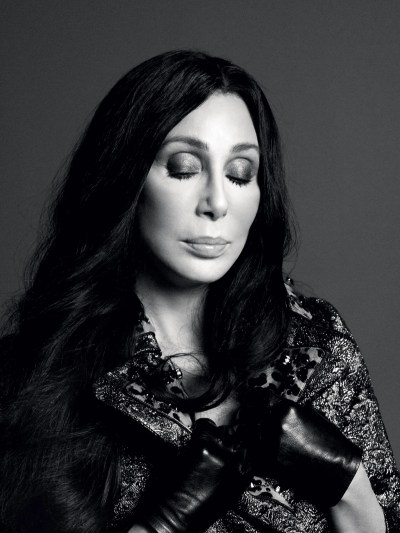 Cher on the cover of Love magazine: Queen of chiffon and sequins is the ultimate fashion icon ...