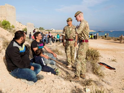 Cyprus refugees stuck on British RAF base issue emotional ...