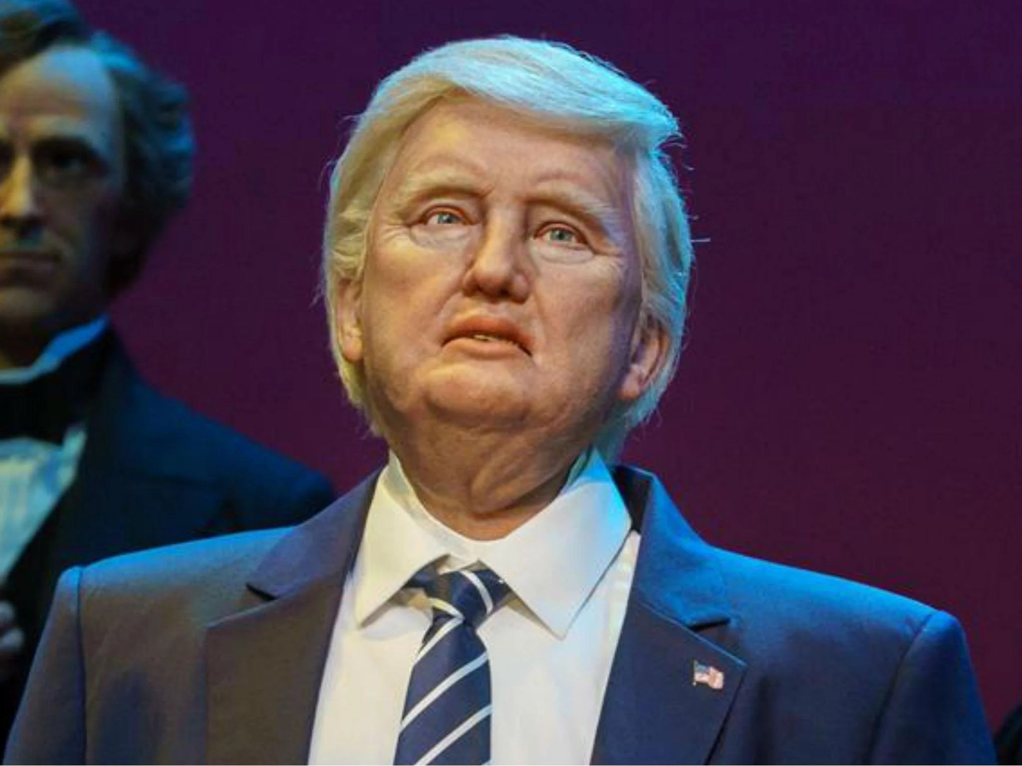 Disney unveils Donald Trump robot in  Hall of Presidents   and it     Robot President Trump at Disney s  Hall of Presidents