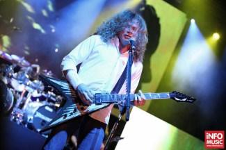 Dave Mustaine - Megadeth a început turneul de promovare Super Collider cu un concert la Arenele Romane pe 22 mai 2013