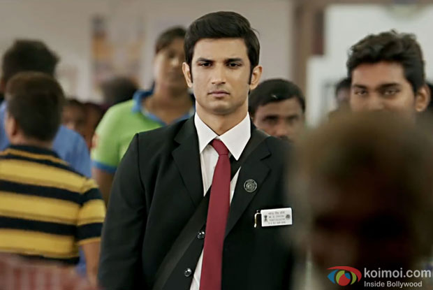 Sushant Singh Rajput in a still from M.S. Dhoni: The Untold Story