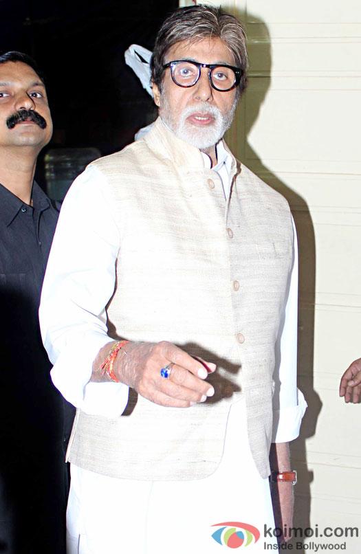 Amitabh Bachchan attended a Durga pooja