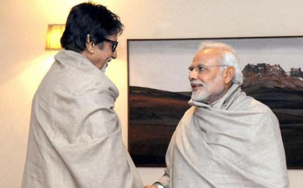 Modi greets Amitabh Bachchan on his 74th birthday