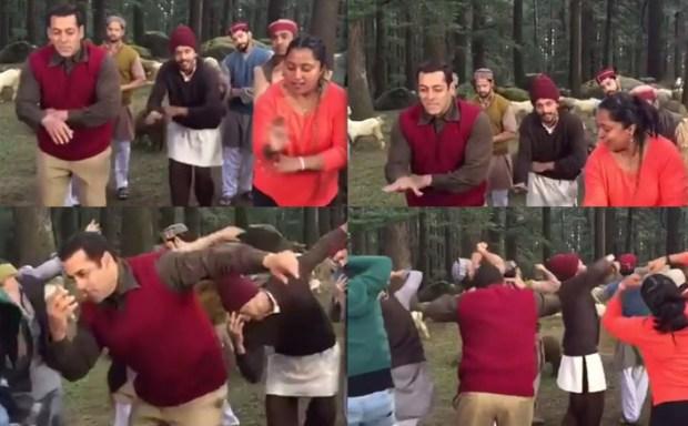 Salman Khan on Location of Tubelight