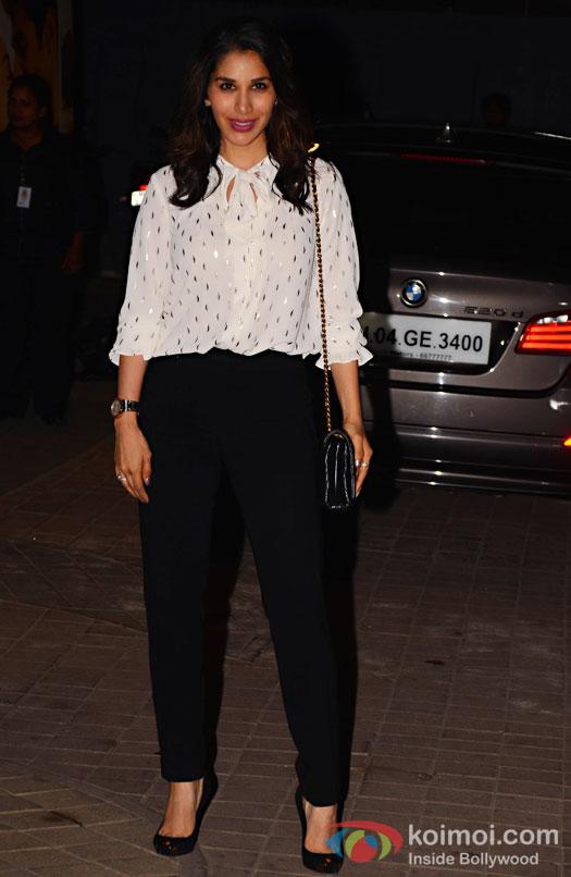 Sophie Choudhary during the screening of OK Jaanu