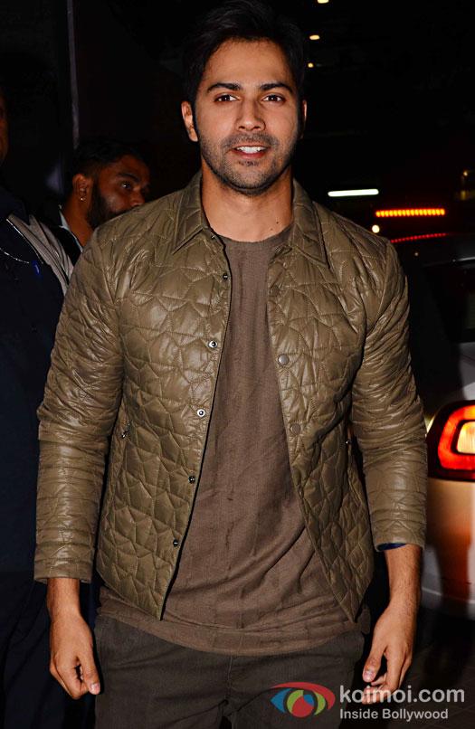 Varun Dhawan during the screening of OK Jaanu