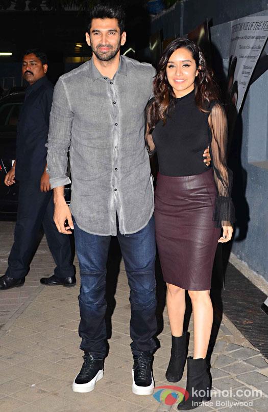 Aditya Roy Kapur and Shraddha Kapoor during the screening of OK Jaanu