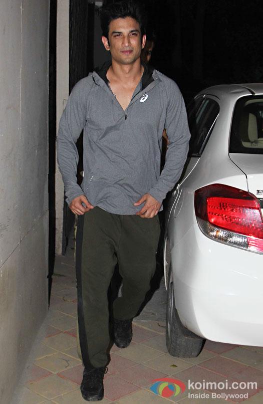Sushant Singh Rajput during the screening of OK Jaanu
