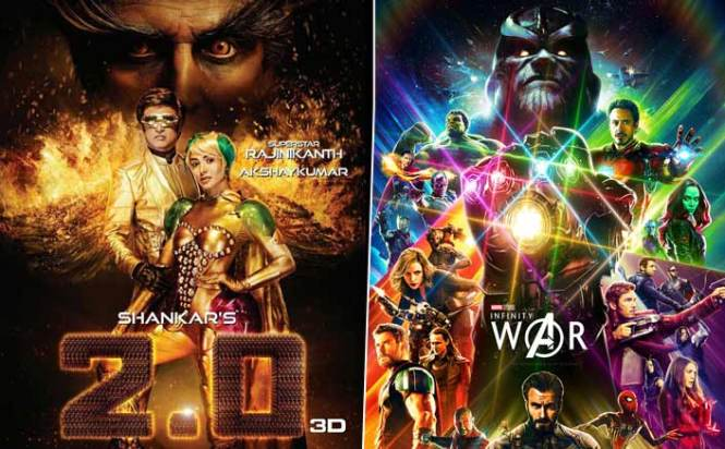 2.0 Or Avengers: Infinity War - Which One Will You Watch In The Clash?