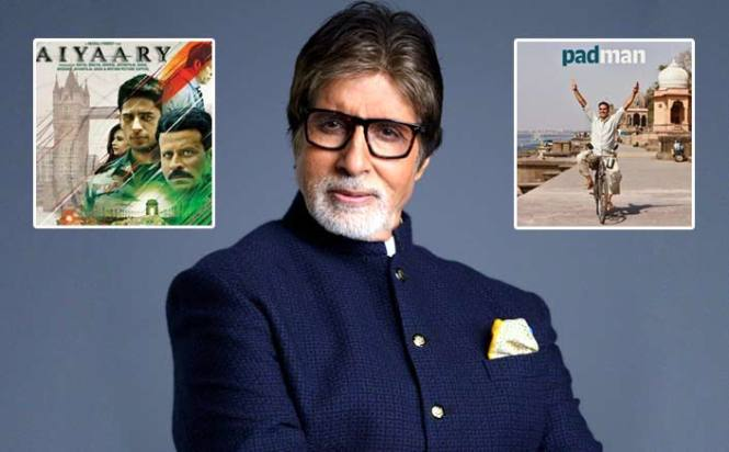 Megastar Amitabh Bachchan supports Padman and Aiyaary!