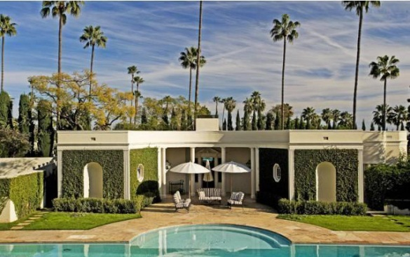 Kelly Wearstler Home Beverly Hills CA pool house