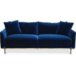 Small Of Blue Velvet Couch