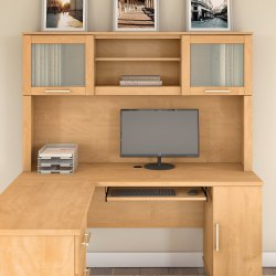 Small Of L Shaped Desk With Hutch