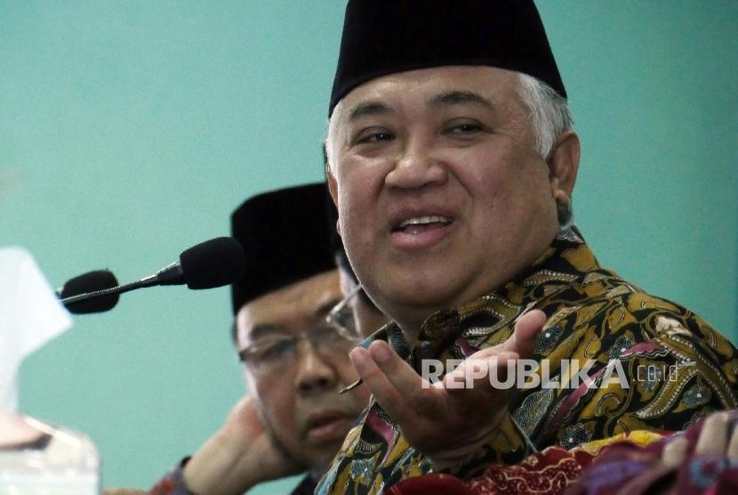 Ketua Dewan Pertimbangan Majelis Ulama Indonesia (Watim MUI) Din Syamsudin