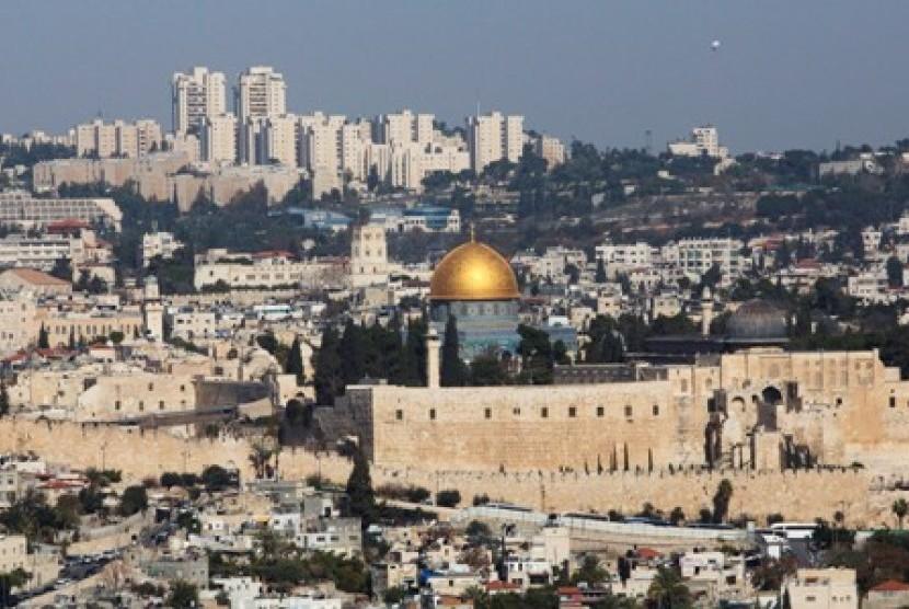 Kota Tua Yerusalem, lokasi Masjid Al-Aqsa berada.