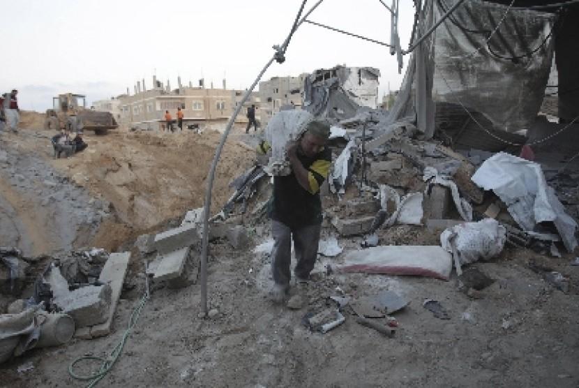 Warga Jalur Gaza yang terhimpit blokade dan kerap diserang Israel.
