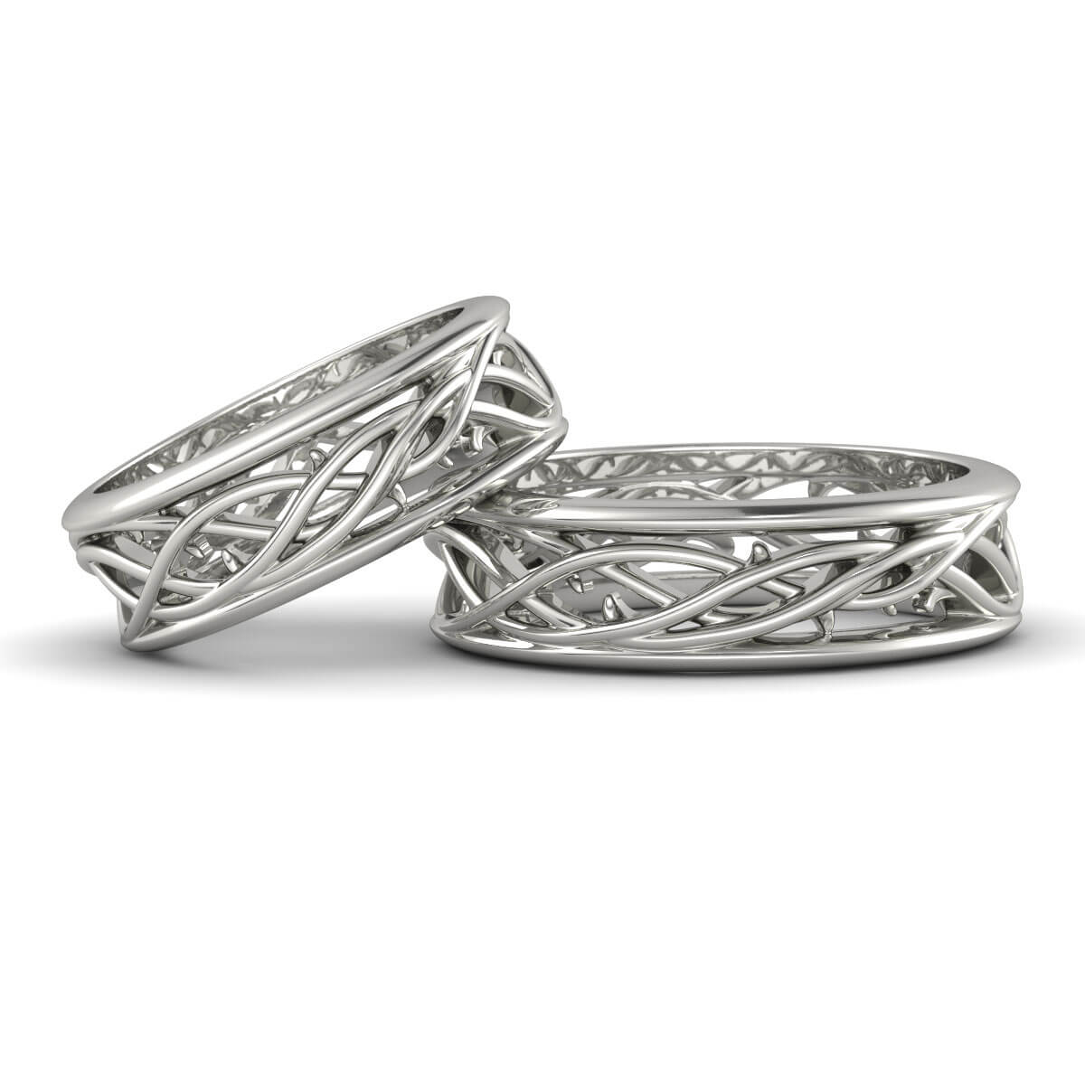 matching wedding bands claddagh wedding ring set FOREVER ENTWINED
