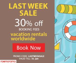 Last week sale - 30% off Booking Fee. Promo code 'LASTWEEKSALE' ends Jan 31, 2017