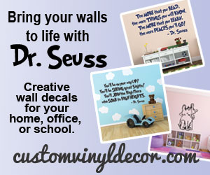 Dr Suess Vinyl Wall Decals from CustomVInylDecor.com