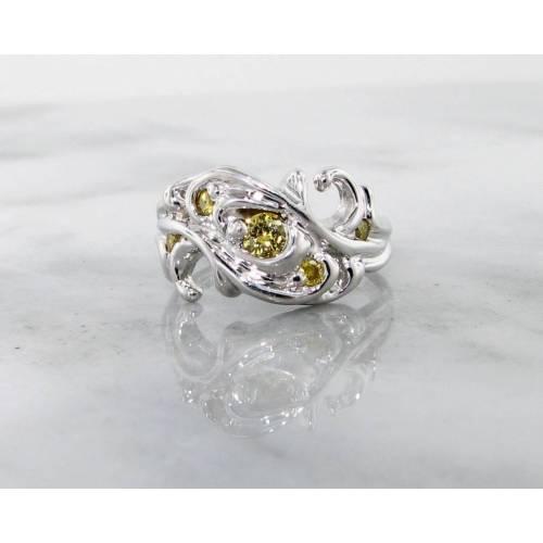 Medium Crop Of Yellow Diamond Engagement Ring