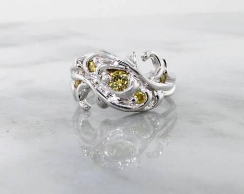Medium Of Yellow Diamond Engagement Ring
