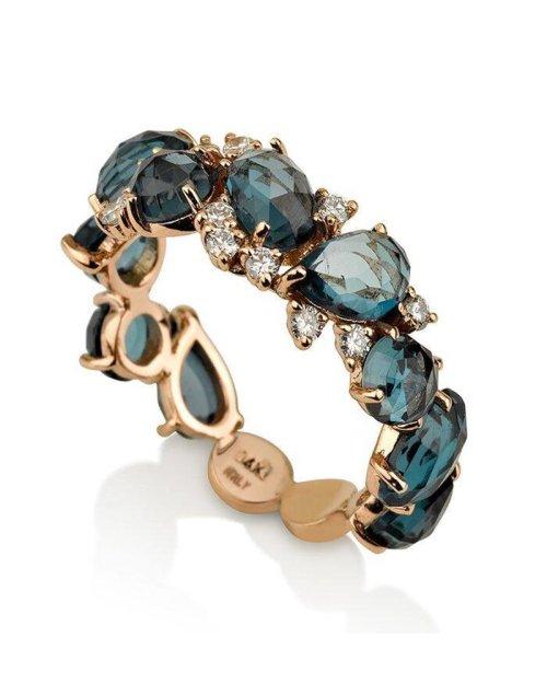 Medium Of London Blue Topaz Ring