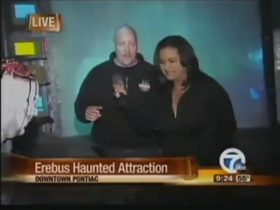 Reporter Freaks Out in Haunted House