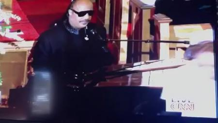 Stevie Wonder Performs at Whitney Houston Funeral
