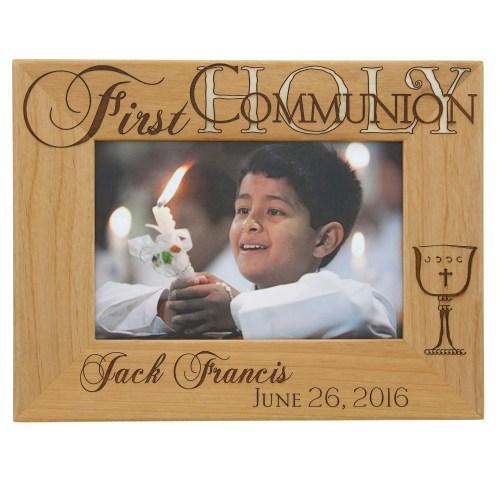 Charm Photo Albums Catholic Company Engraved Frames Wedding Engraved Frames Etsy Personalized Communion Wooden Frame Communion Frames
