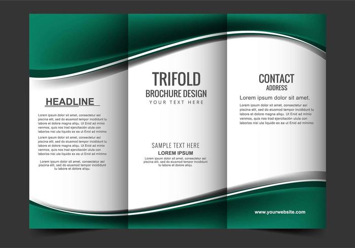 Free Vector Tri Fold Brochure   Download Free Vector Art  Stock     Vector Tri Fold Brochure