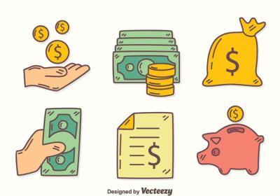 Hand Drawn Revenue Element Vector - Download Free Vector Art, Stock Graphics & Images