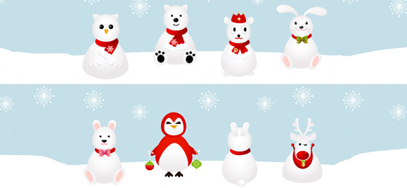 8 Snowy Cartoon Characters