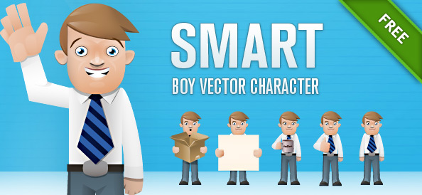 Smart Boy Vector Character Set