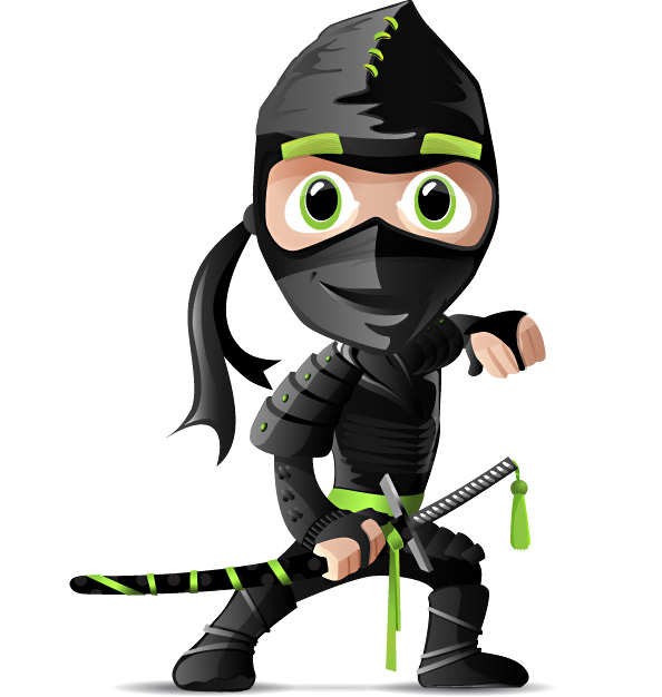 Ninja Vector Character Preview