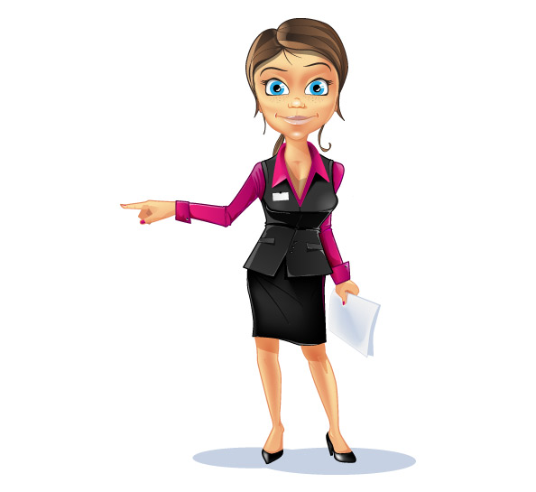 Business Girl Vector Character Preview