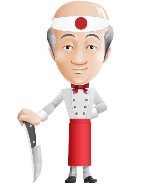 Asian Chef Vector Character