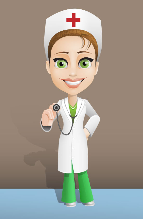 Female Doctor Vector Character